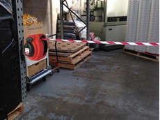New safety barrier reel keeping F&B workplaces safe