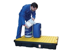 Spill pallets and spill trays from Alemlube