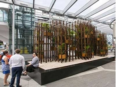 Barangaroo's Green Ladder display features clear acrylic panels