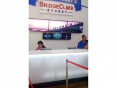 clear-PEP UV PC Stage 40 translucent panels at the Bridge Climb reception counter