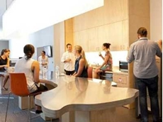 Allplastics supplied 25mm clear acrylic panels for the light features of the UTS cafeteria area