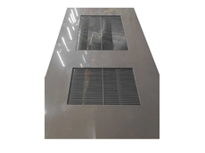 Chemical resistant PVC ventilation louvres for industrial settings