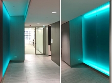 Colourful selection of PERSPEX and PLEXIGLAS transforms Sydney office