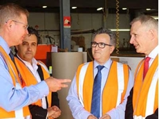 Federal Ministers visit Allplastics' Chatswood facilities