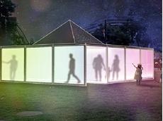 The Closer installation featuring Plexiglas Satin Ice sheets