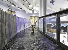 Penguin enclosure created with HDPE panels at Sea Life, Sydney