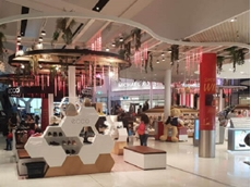 Retail display cabinets for ECCO at the Sydney International Airport