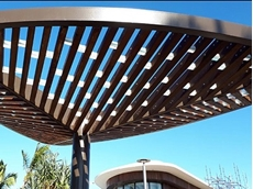 Shade structure created for Rockhampton's foreshore with Acrylic and Perspex