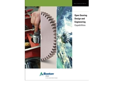 Boston Gear design and engineering brochure