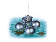 Floating electrodes detect leakages for non-conductive liquids