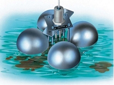 SCHE floating electrodes normally float on conductive liquids such as water