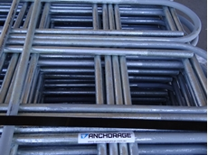 A pallet load of Anchorage extended leg U Bolts packaged for dispatch