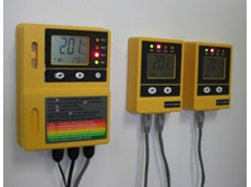 CO2 Cellarwarn gas monitoring equipment shows a clear indication of ambient CO2 concentration