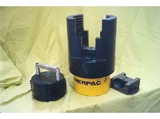 The compact Enerpac-powered plug press.