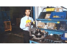 Mr Mali with Transpec's new Enerpac-powered press.