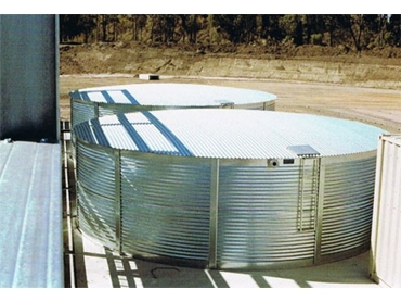 Galvanised Steel Water Tanks can be made to the capacity required for you