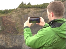 Leapfrog AR allows geological models to be superimposed over a pit or an underground operation to give a big picture view of the geology