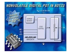 Digital potentiometers with on-chip EEPROM