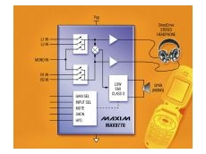 MAX9770 integrated audio amplifier.