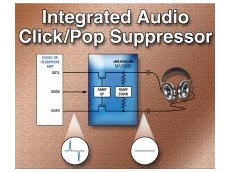 Integrated audio click-and-pop suppressor