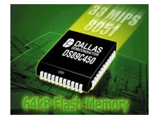 Microcontroller offering in-application programmable flash memory.