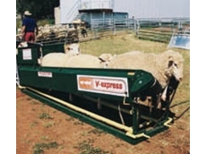 Arrow Farmquip's V-Express sheep and goat handler