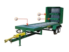 Hay feedout trailer