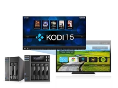 Using the Kodi add-on app, NAS devices can be instantly turned into a multimedia player