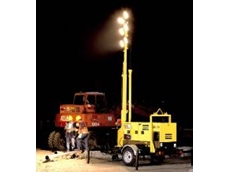 """Daymaker"" portable lighting tower."