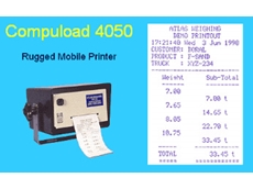 Mobile printer Compuload 4050 available from Atlas Weighing