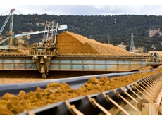 Bauxite conveyor and stockpile at the Wagerup refinery (photo courtesy of Alcoa Australia)