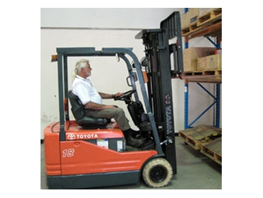Forklift training onsite