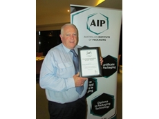 Greg Roberts FAIP, Director of 4P Technical Services, with his AIP 25 year award