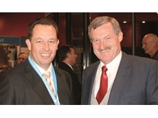 Outgoing Australian Institute of Packaging National President, Craig Wellman, with incoming National President, Pierre Pienaar