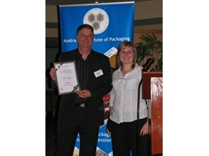 Phillip Higgins receives his Fellowship from AIP Victorian Division Chairwoman, Elke Minkevicius