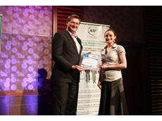 Mark Dingley with Anna Roland, 2012 winner