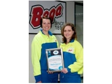 Natalie Quarrell, winner of the APPMA Scholarship 2010 with Renea Kaitler, NPD NPD and Innovations Manager, Bega Cheese