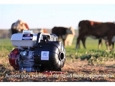 Reliable pump technology for liquid feed supplements from Australian Pumps