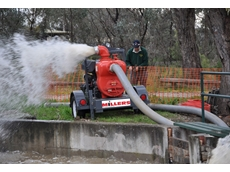"""The Aussie 6"""" trash pump can be deployed quickly making it ideal for flood mitigation applications"""