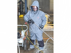 New high pressure protective clothing providing safety with pressure cleaners