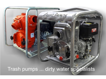 Hard wearing, rugged Trash Pumps to resist wear