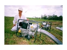 Multi purpose pump can perform irrigation, fire fighting or transfer duties.