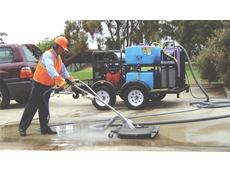 The Aussie Hydro-Loop pressure cleaner cleans and vacs the contaminated water for filtration and re-use.