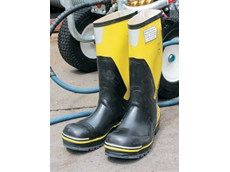 Aussie Pumps' new safety boots in high vis yellow