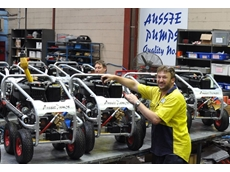 Michael Moran and Tony Gallo, part of the Aussie production team working at full capacity to produce Aussie Scud blasters