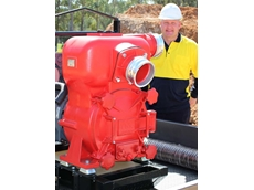 "Aussie's new 6"" heavy duty trash pump powered by Kubota engine"