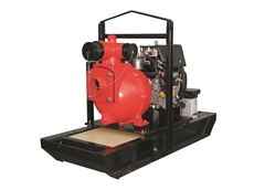 "This Aussie 4"" diesel drive pump delivers pressure and volume"