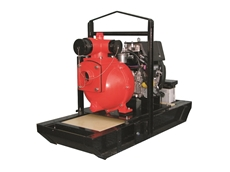 "This Aussie 4"" diesel drive pump delivers pressure and volume."