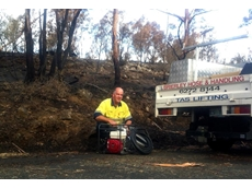 Brierley Hose Service Manager Carl Bresnehan delivering a fire pump kit to a customer in South East Tasmania
