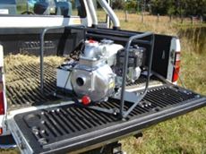 "The large body of this new Aussie 2"" Quik Prime transfer pump means a 25% increase in flow rates"